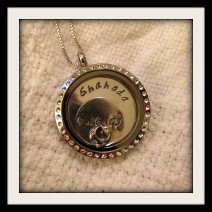 This is the photo of Amina's finished locket that she shared online.